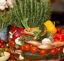 Mediterranean veg and polyohenols